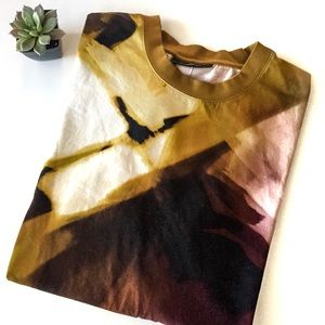 Givenchy water color abstract print T shirt, M